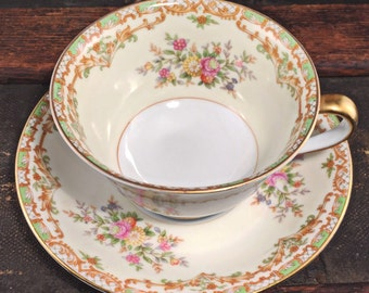Teacup Candle - Custom Scent and Color - Noritake - The Bernadette