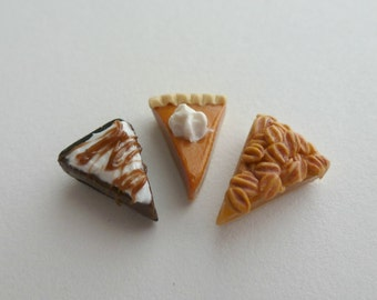 Floating Charms Floating Locket Charms Pumpkin Pie Pecan Pie Chocolate Mousse Pie Clay Jewelry