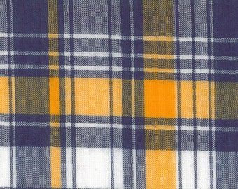 Gold and Purple Tartan Fabric