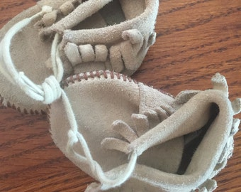 Vintage  Baby Infant Leather Moccasins