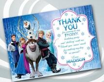 DIGITAL FILE Disney Frozen Thank You Card - Frozen Thank You Note - Disney Frozen Thank You - Elsa Thank You Card - Anna Thank You Card