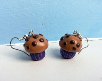 Polymer Clay Muffin Earrings
