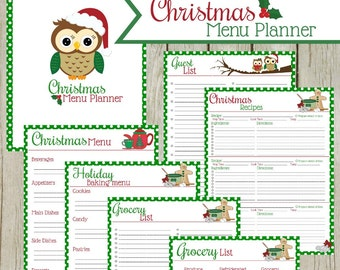 Christmas Menu Planner: Instant Download