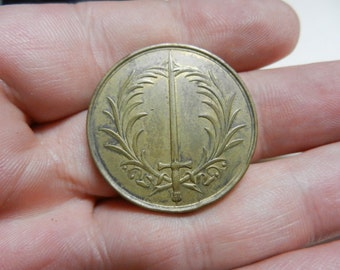 Vintage 1849 German Baden Military Medal