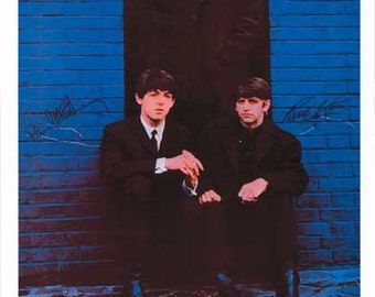 Beatles London Palladium 1963 Vintage Art Poster