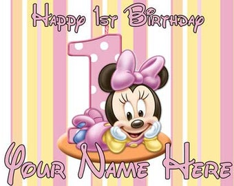Birthday banner Personalized 4ft x 2 Minnie Mouse