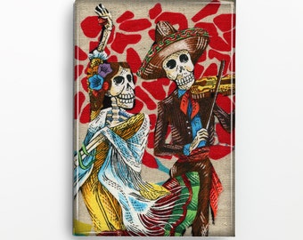 Day of the Dead Couple Rectangle Magnet 102