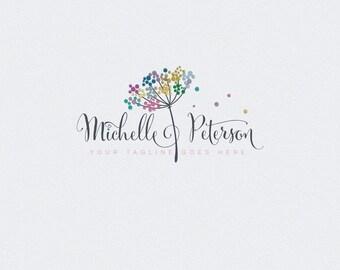 Logo Design - Photography Watermark - Custom Photography Logo - Dandelion logo - Business Logo Design