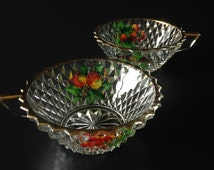 Mid Century Glass Cups / Dishes.