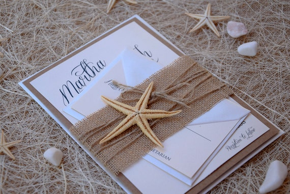 Rustic invitations beach wedding invitation by paperstudiobyc for Wedding invitations newport beach