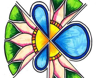 Circular Flower Greeting Card