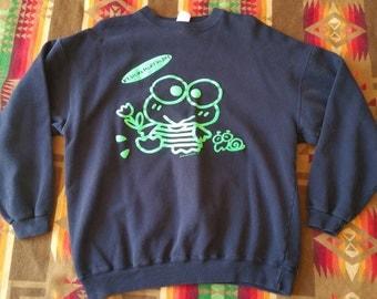 Vintage hello kitty keroppi sweater Sanrio 1992 rare