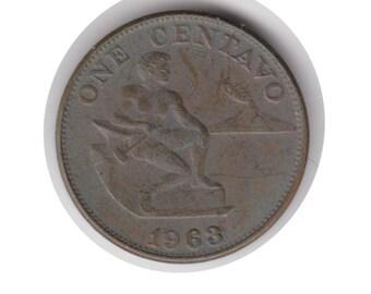 Philippines One Centavo 1963 Coin (Code:JMC2150)