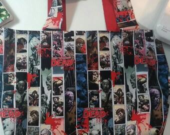 Handmade, Reversible, reusable cotton shopping tote bag
