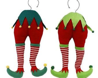 "21""L Lime Elf Bottom Decor Wreath Kit/Wreath Enhancement/Christmas Decor/XC988299"