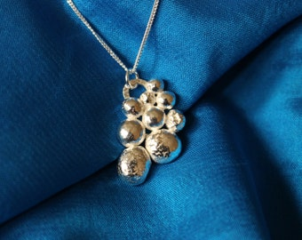 Bubble Pendant handmade in Solid Sterling Silver   great to dress up a Wedding or to give as a Birthday gift.