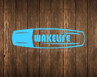 Wake Life Decal Vinyl Sticker • Car Truck SUV • Yeti • Tumbler • Guitar • Choose Your Color/Size • Large Orders Welcome