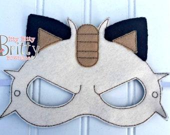 Pokemon Meowth inspired mask