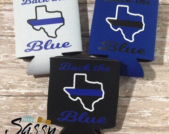 Back the Blue Coozies