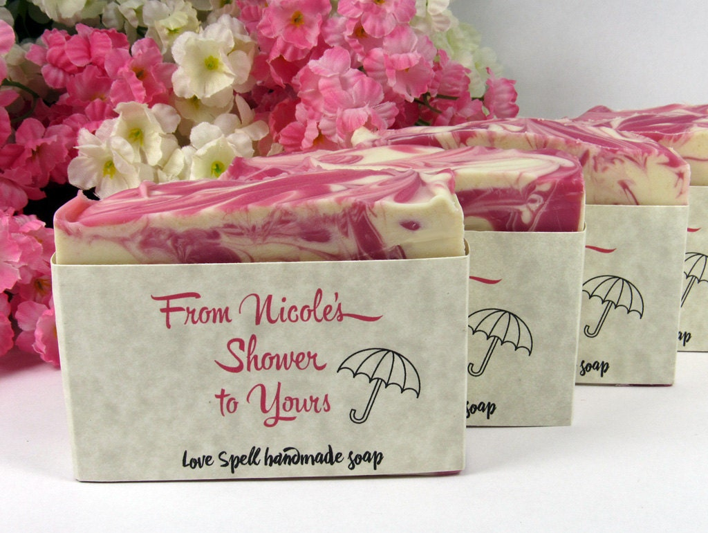 Homemade Wedding Shower Gifts: Soap Shower Favors Baby Shower Favor Bridal Shower Soap