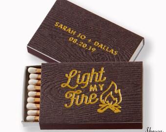 LIGHT MY FIRE Campfire Matchboxes - Wedding Favors, Wedding Matches, Wedding Decor, Personalized Matches, Custom Matchboxes, Match Box Favor