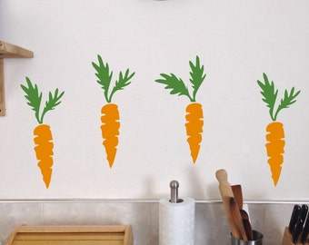 Carrot, Wall Decals, Set of 10, Easter Bunny Carrots stickers removable