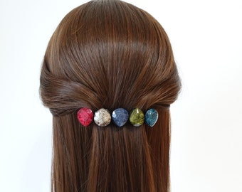 Formica Plastic Marbling Stone French Hair Barrettes Women hair Accessories Free Shipping