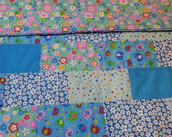 Bright and Beautiful Child's  Quilt