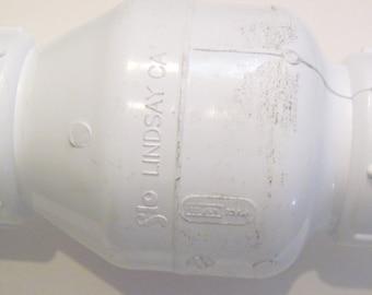 "1.5"" white pvc spring loaded QUIET sump pump check valve"