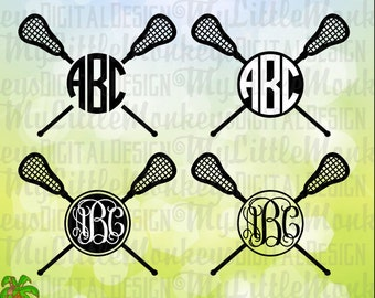 Lacrosse SVG ~ Lacrosse Sticks svg ~ Lacrosse Monogram ~ Monogram svg ~ LAX svg ~ Commercial Use SVG ~ Cut File ~ Clipart - dxf-eps-png
