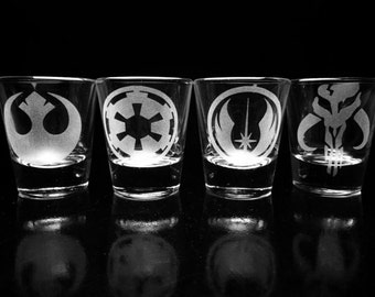 Star Wars Set of 4 Shot Glasses