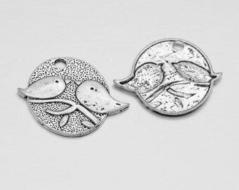 Love Birds Pendant, Antique Silver Finish (CH-AS-19), 5 count