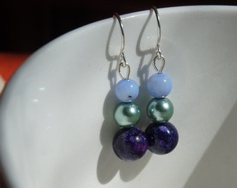 Jewel Toned Dangle Earrings