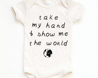 Baby Boy Take Home Outfit, New Baby Outfit, Organic Baby Clothes, Take My Hand Onesie, Baby Shower Gift, Baby Girl Clothes, Baby Boy Clothes