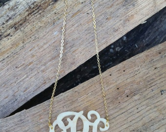 Monogram Necklace - Single or Bridesmaid Package (bulk discount)