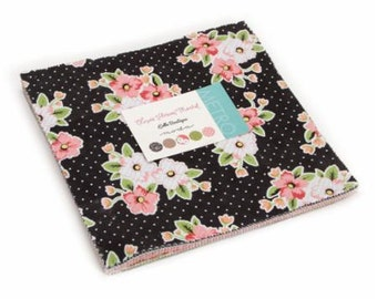 Olive's Flower Garden by Lella Boutique Layer Cake for Moda