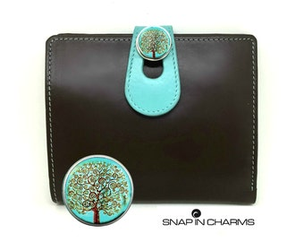 Wallet for her, women's  wallet, RFID wallet, Genuine Leather Wallet, Brown leather wallet, Women wallet, Woman wallet, Tree of life wallet