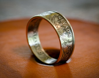 Ross Tiara Coin Ring - US Statehood Quarter- Nevada (Clad) - Size 7