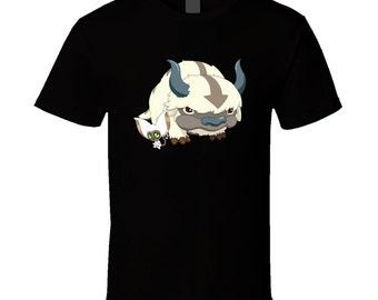 Avatar - Appa and Momo - Black T-Shirt