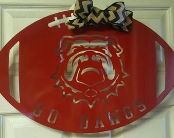 Georgia bulldogs wreath, bulldogs, Mississippi state bulldogs,football door hanger or wreath, University of Georgia, Go Dawgs,