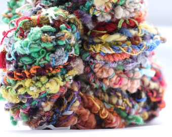 Saori hand spun art yarn 'Scribbles'