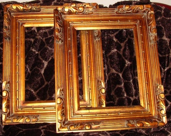 Gold Gilded Wooden Picture Frame/Boho/Shabby Chic/Boho Gypsy