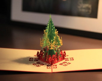 3D card, christmas tree all hand made