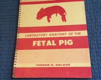 1955 Laboratory Anatomy of the Fetal Pig by Theron O. Odlaug