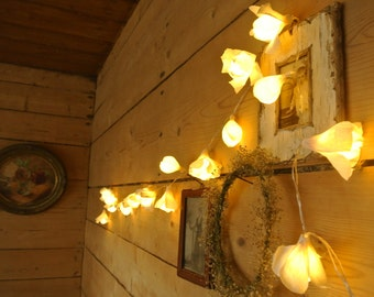 Lights garland, Battery lights, White garland, Wedding decor, String lights, Wedding lights, Fairy lights, Home lights, Handmade decor