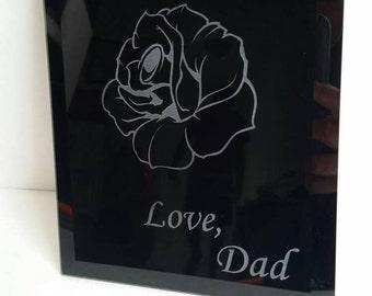 Custom Black Mirror Plaque