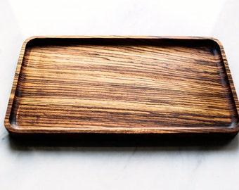 catchall tray valet tray mens valet tray zebra wood - Valet Tray