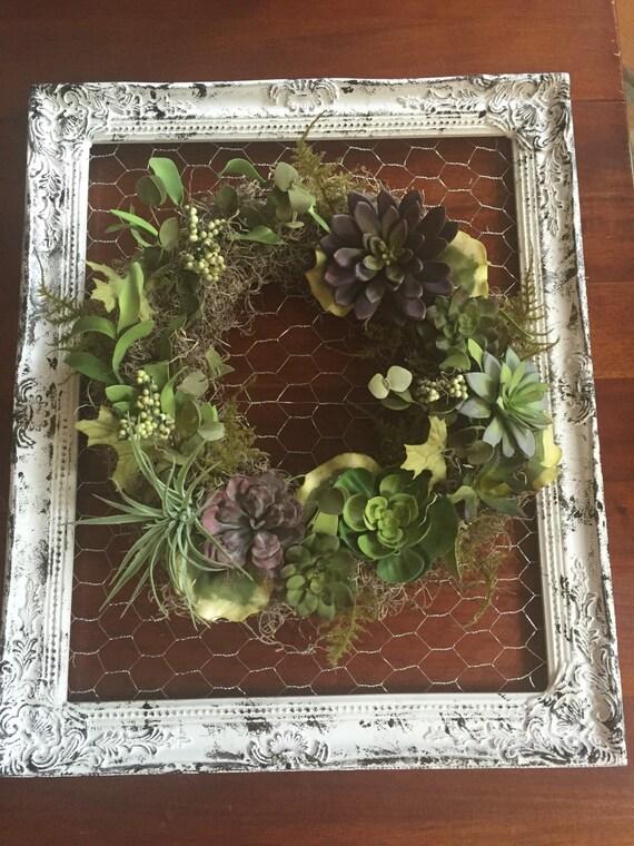 Farmhouse Wreath Window