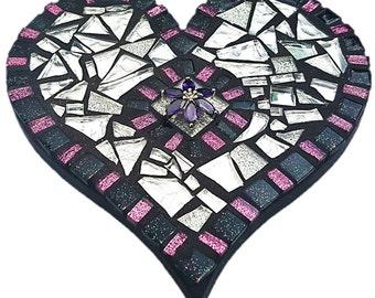 Mosaic  Heart - Purplelicious