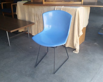 Vintage 1960's Bertoia Fiberglass Chair Knoll Mid Century Modern MCM Light Blue Signed Original